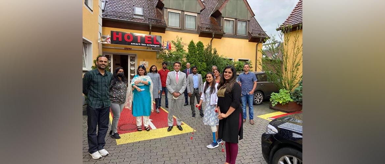 Consul Generalwith Indian community representatives in Erlangen