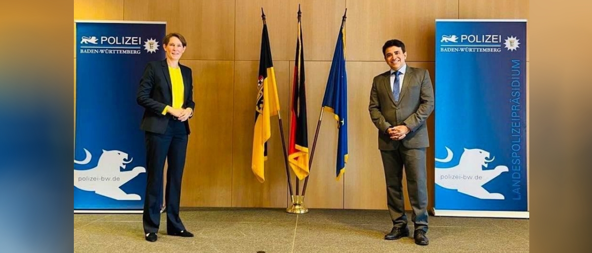 Consul General with Dr. Stefanie Hinz, Chief of Police, Baden Wuerttemberg