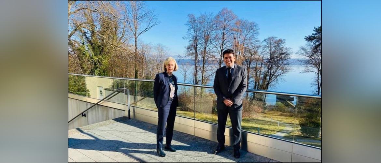 Consul General with Prof Dr Ursula MünchDirektorinof  AkademiefürPolitischeBildungTutzing