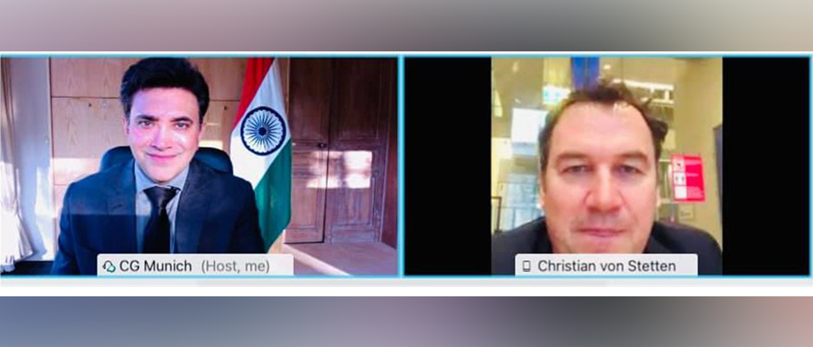 Consul General interacted over video conference with Hon'ble MdB Christian Freiherr von Stetten