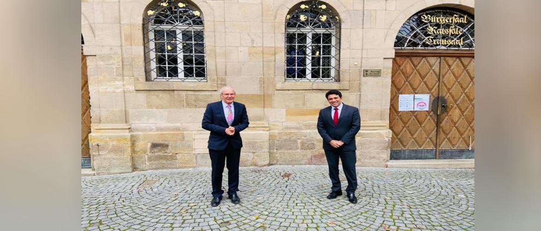 Consul General with Lord Mayor of Esslingen Dr Juergen Zeiger