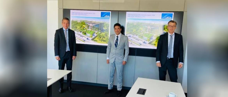 Consul General with CEO Juergen Nowicki & Managing Director John van der Velden of Linde Group