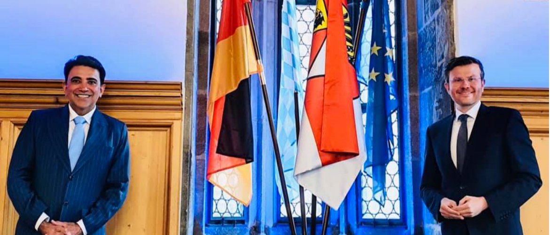 Consul General with Lord Mayor of Stadt Nuremberg His Worship Marcus Koenig