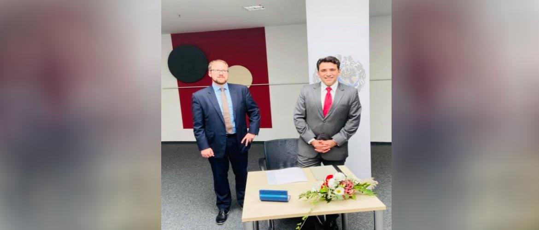 Consul General with Lord Mayor of Erlangen Mr. Florian Janik