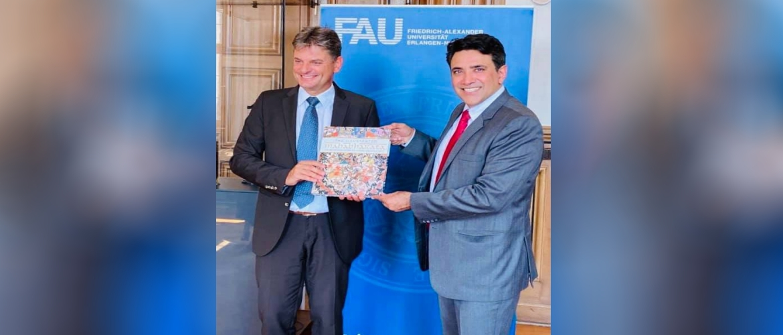Consul General with President Prof. Dr. Joachim Hornegger of FAU Erlangen-Nuernberg